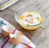 Half boiled eggs — Stock Photo