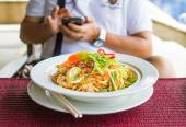 Stir-fry noodles — Stock Photo
