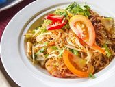 Stir-fry rice noodles — Stock Photo
