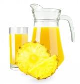 菠萝汁 — 图库照片