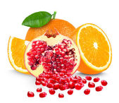 Orange and pomegranate — Stock Photo
