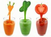 Sucos de vegetais — Fotografia Stock