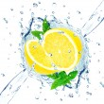 Lemon and water splash — Stock Photo #66417117