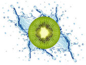 Kiwi splash — Stockfoto