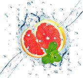 Grapefruit splash — Stock Photo