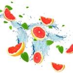 Grapefruit splash — Stock Photo #70846625