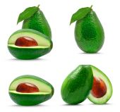 Avocado collage — Stock Photo