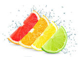 Citrus splash — Stock Photo