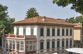 Lucca cityscape with old mansion, Italy — Стоковое фото