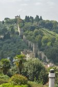 Old fortification walls of Florence — Stock Photo