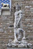 Hercules and Cacus statue in front of Palazzo Vecchio, Florence — Stock Photo