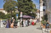 Historical Festival Giostra in Porec, Croatia. — Stock Photo