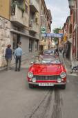 Parade of vintage cars in Novigrad, Croatia — Stock Photo