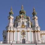 Baroque St. Andrew Church in Kiev, Ukraine — Stock Photo #77806150