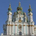 Baroque St. Andrew Church in Kiev, Ukraine — Stock Photo #77806154