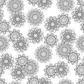 Seamless Tileable Doodle Vector Background — Stock Vector