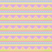 Seamless Tileable Vector Background in Pastel Tribal Style — Stock Vector