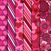Valentine's Day Vector Backgrounds — Stock Vector