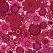 Seamless Tileable Vector Floral Background — Stockvector