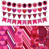 Valentine's Day Vector Backgrounds — Stockvector