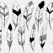 Vector Collection of Doodle Stylized Feathers — Stock Vector #55074359