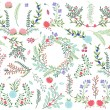 Vector Collection of Vintage Style Hand Drawn Florals - Great for Weddings and other celebrations — Stock Vector #56560287