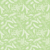 Seamless Tileable Vintage Floral Background Pattern - Vector Illustration — Stock Vector