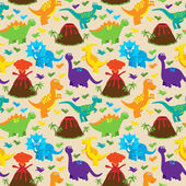 Dinosaur Seamless Tileable Vector Background Pattern — ストックベクタ