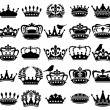 Vector Collection of Vintage Style Crown Silhouettes — Stock Vector #67919585