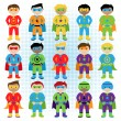 Set of Boy Superheroes in Vector Format — Stock Vector #70596659