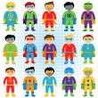 Set of Boy Superheroes in Vector Format — Stock Vector #70596717