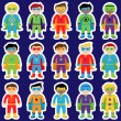 Set of Boy Superheroes in Vector Format — Stock Vector #70596865