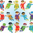 Set of Boy Superheroes in Vector Format — Stock Vector #70596943