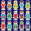 Set of Boy Superheroes in Vector Format — Stock Vector #70596975