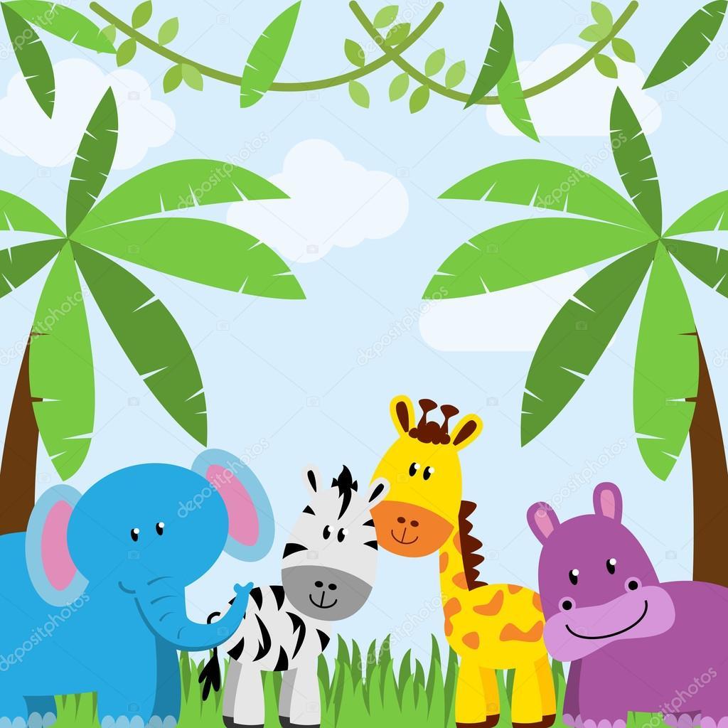 Fondo Animal temática safari, selva o parque zoológico ...