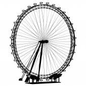 Carousel Silhouette Vector — Stock Vector