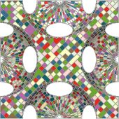 Mosaik färgglada geometriska stadsstrukturen vektor — Stockvektor