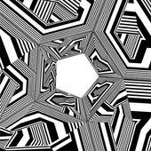 Black And White Pentagon Pattern Vector — Vetorial Stock