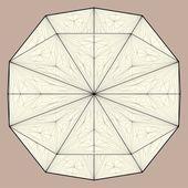 Vector de estructura de origami — Vector de stock