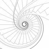 Spiral Staircase Vector — Cтоковый вектор