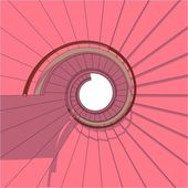 Spiral Staircase Vector — Vettoriale Stock