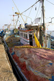 GOKARNA,INDIA - Feb 27: Indian fishing boat, India on Feb 27, 20 — Stock Photo