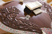 Sitar, a string Indian Traditional instrument, close-up — Stock Photo