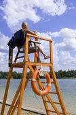 Kiev, Ukraine 2015, May 1: Safety on the water - lifeguard Stati — Stock Photo