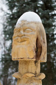 Sculpture in wood — Stock Photo
