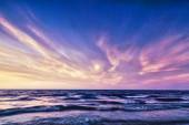 HDR image of  sunset over the sea — Stock Photo