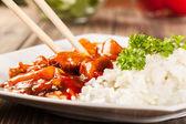 Frango agridoce com arroz — Foto Stock