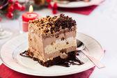 Piece of meringue cake — Stock Photo