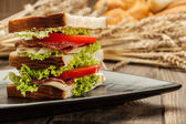 Ham and cheese sandwiches — Stock Photo