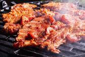 Barbekü ızgara domuz eti biftek ızgara — Stok fotoğraf